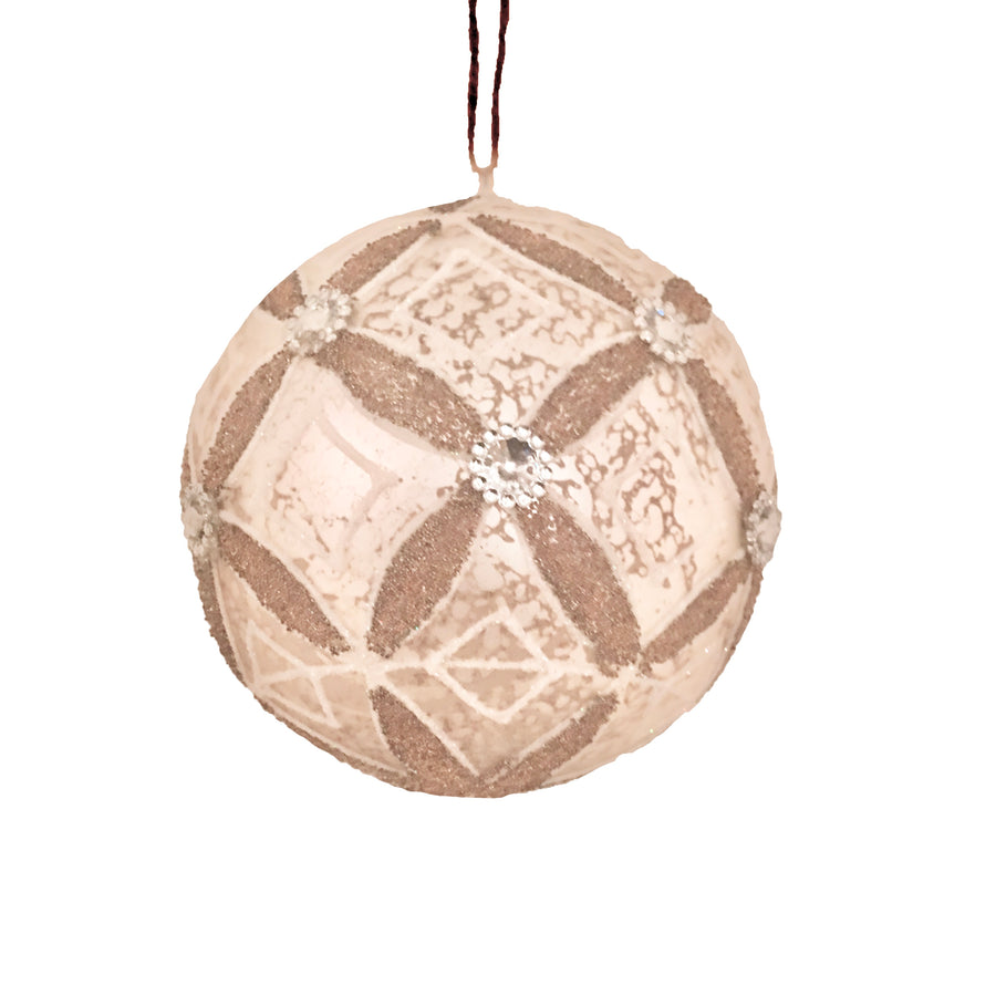 Mottled Grey Patterned Glass Ornament