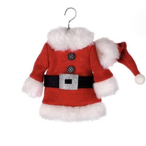 Red and White Santa Coat Ornament