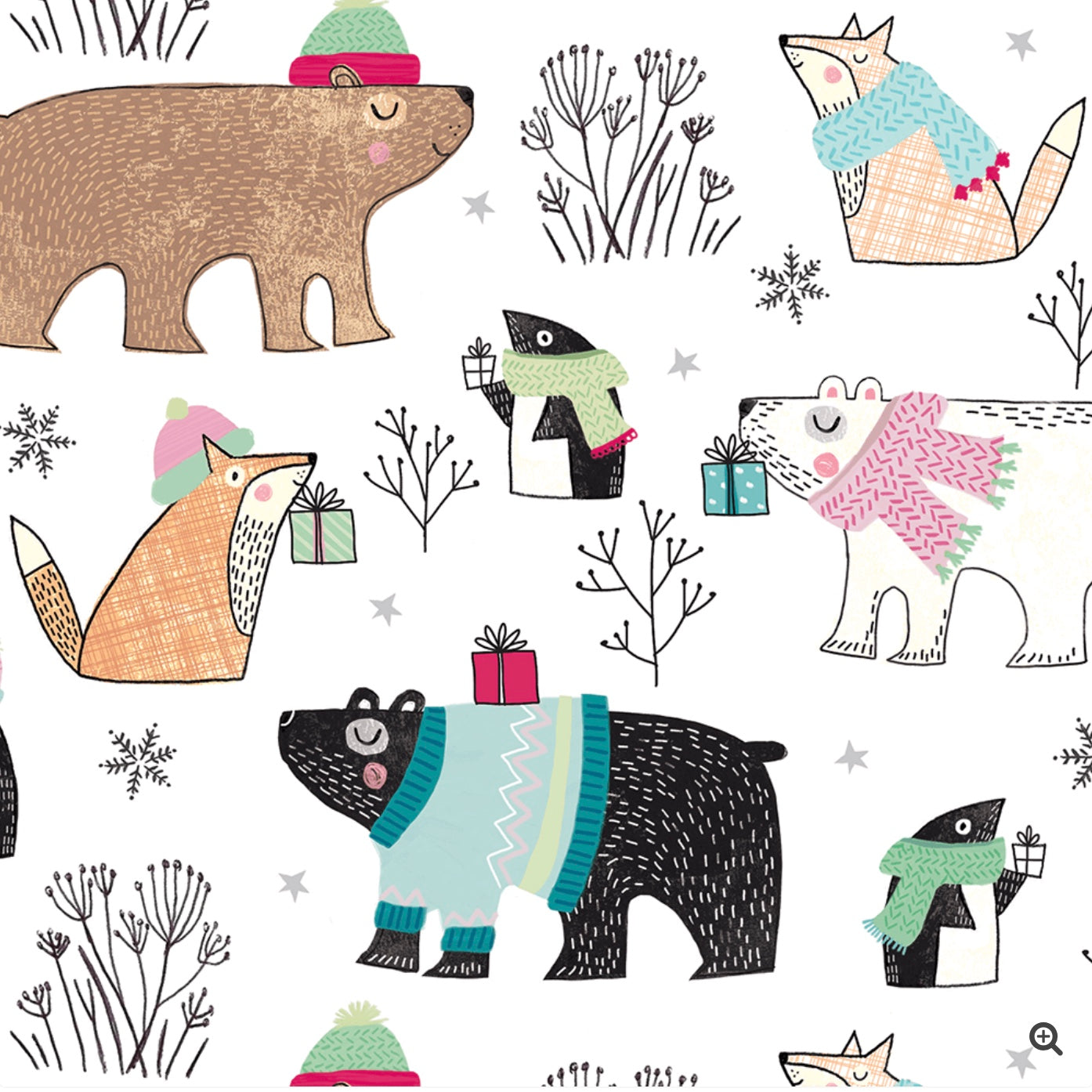 Polar Sophisticate Wrapping Paper Roll