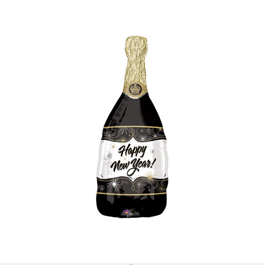 """Happy New Year"" Champagne Bottle Balloon"