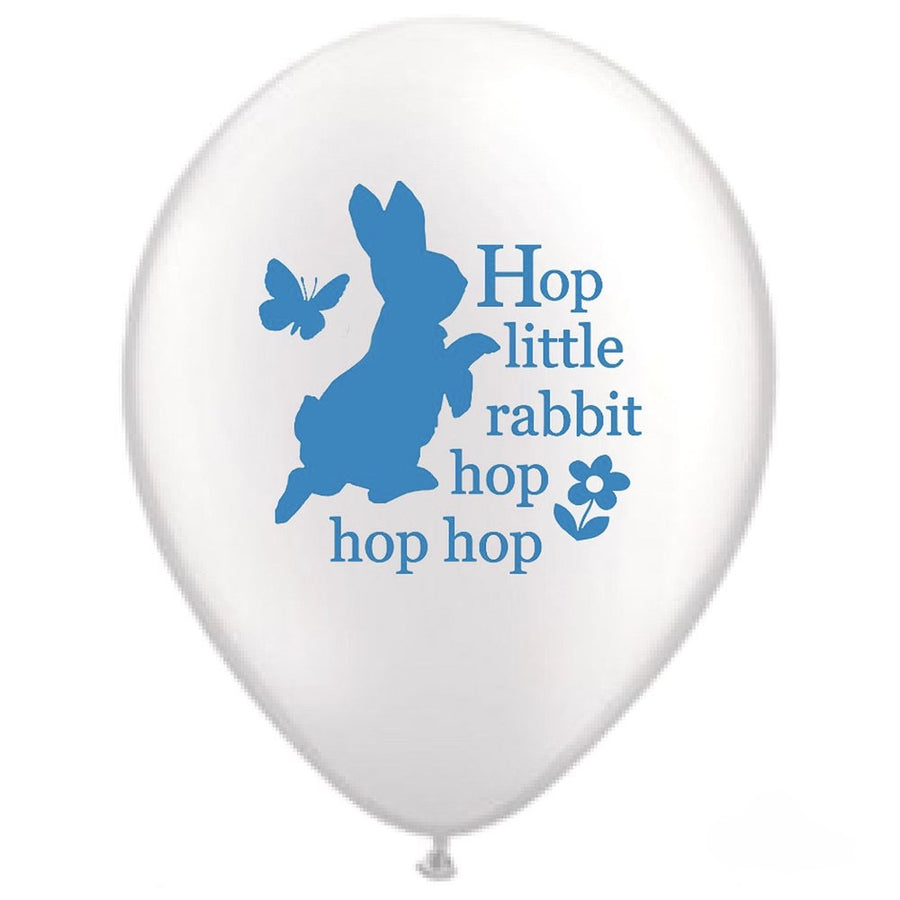 "Peter Rabbit ""Hop little rabbit...hop hop hop"" Balloon - White"