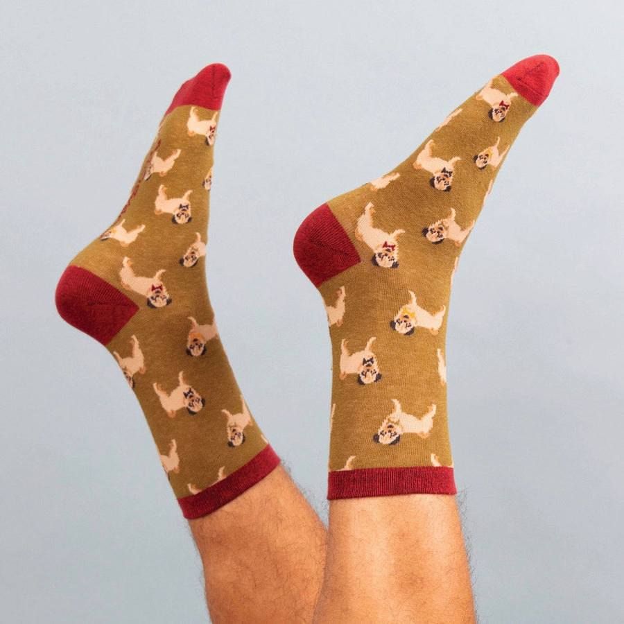 Powder Gentlemen Pug Ankle Socks