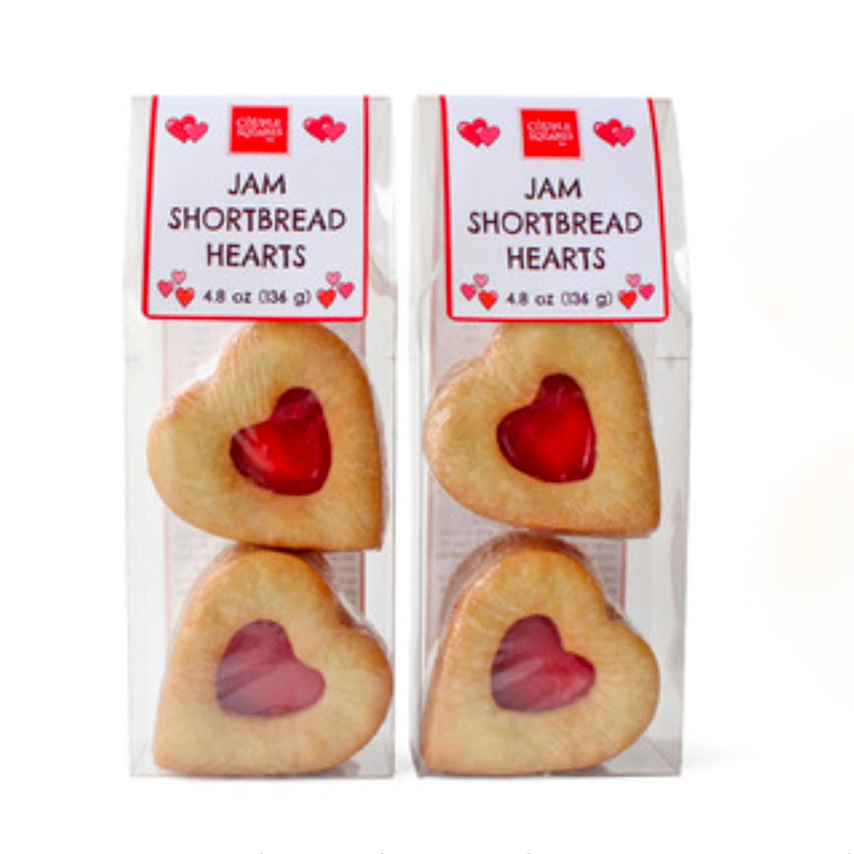 "Valentine ""Shortbread Sandwich Heart"" Cookie Bag"