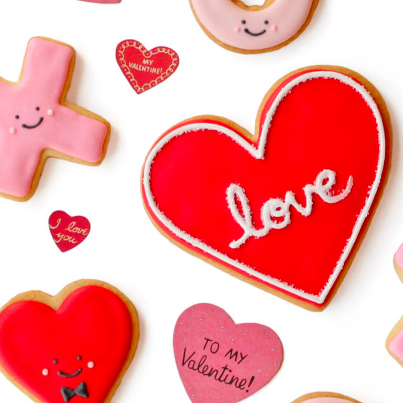 "Individual ""Love"" Heart Cookie"
