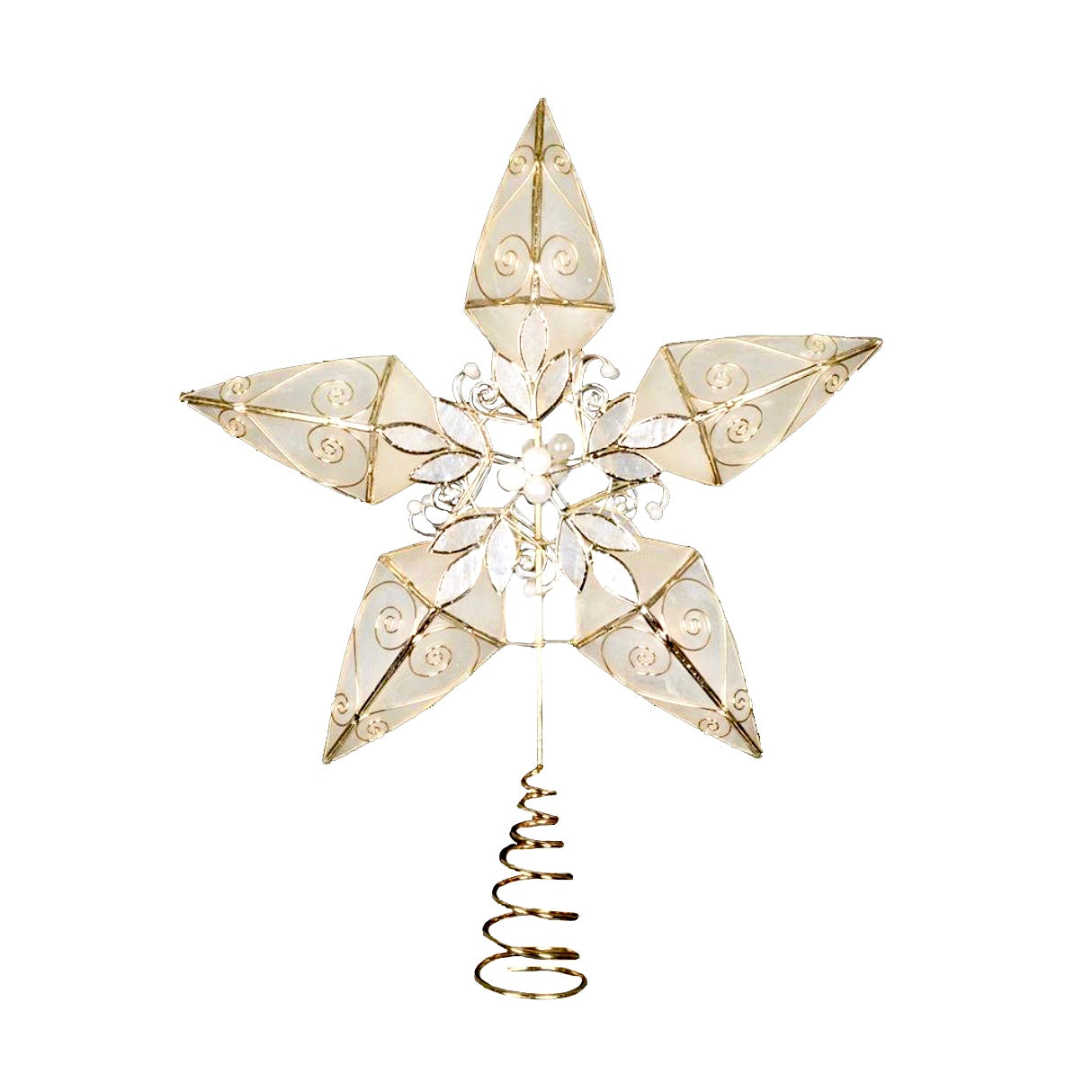 Capiz Shell Star Tree Topper - Putti Christmas Canada