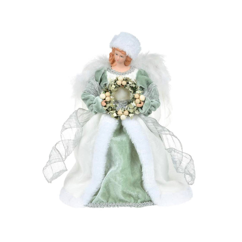 Mint Green Angel with Wreath