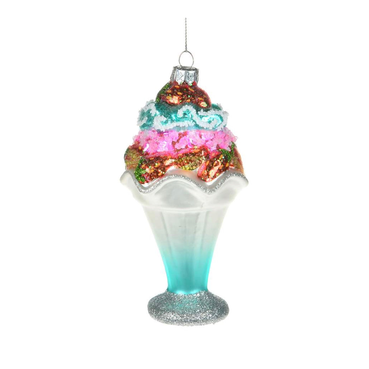 Glass Sundae Ornament