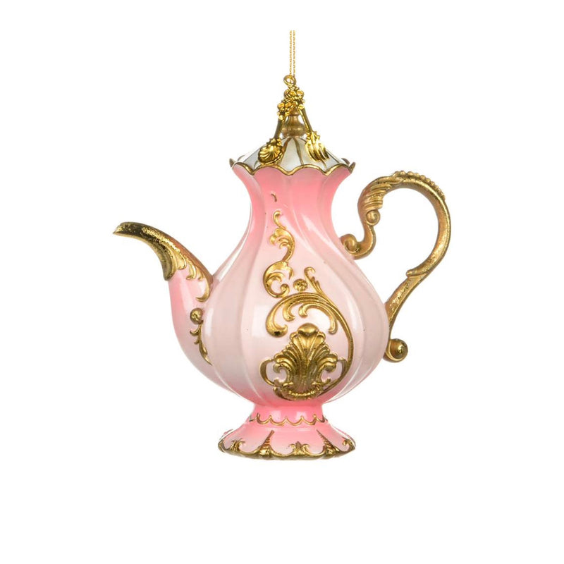 Pink and Gold Teapot Ornament | Putti Christmas