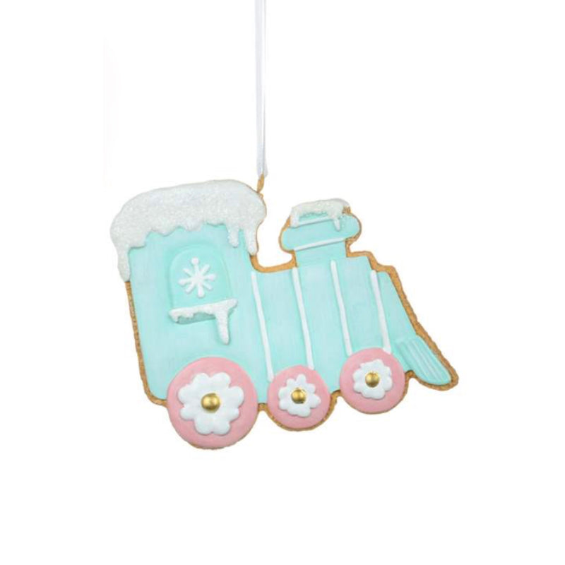 Pastel Train Cookie Ornament