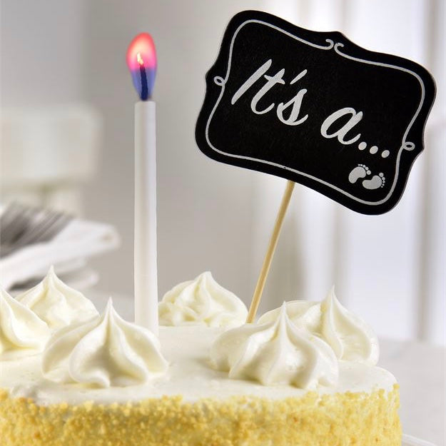 Baby Reveal Cake Topper and Candle | Le Petite Putti