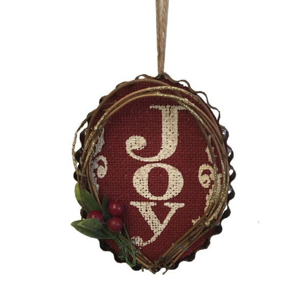 Wooden Joy Ornament