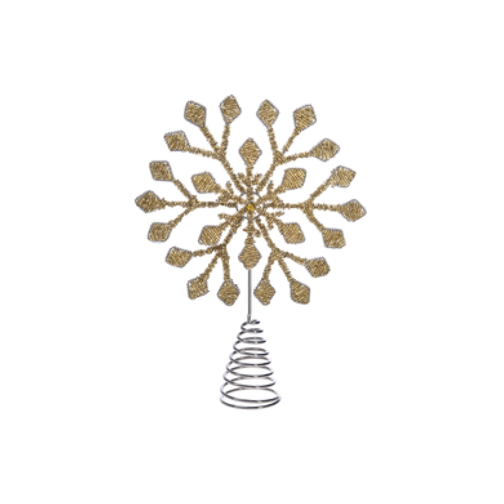 Gold Beaded Snowflake Tree Topper | Putti Christmas Celebrations