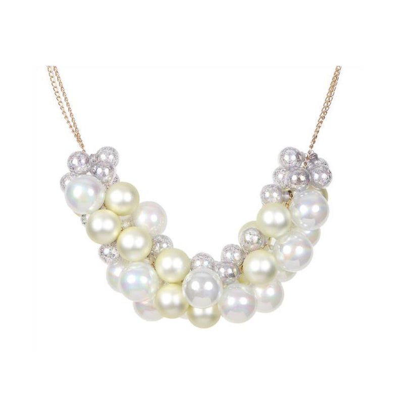 Jim Marvin Glass Ball Swag Garland -Antique Cream, JM-Jim Marvin, Putti Fine Furnishings
