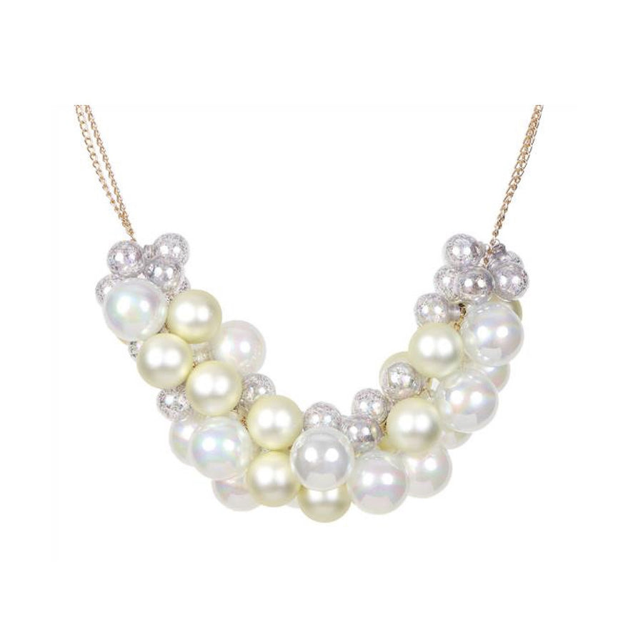 Jim Marvin Glass Ball Swag Garland -Antique Cream