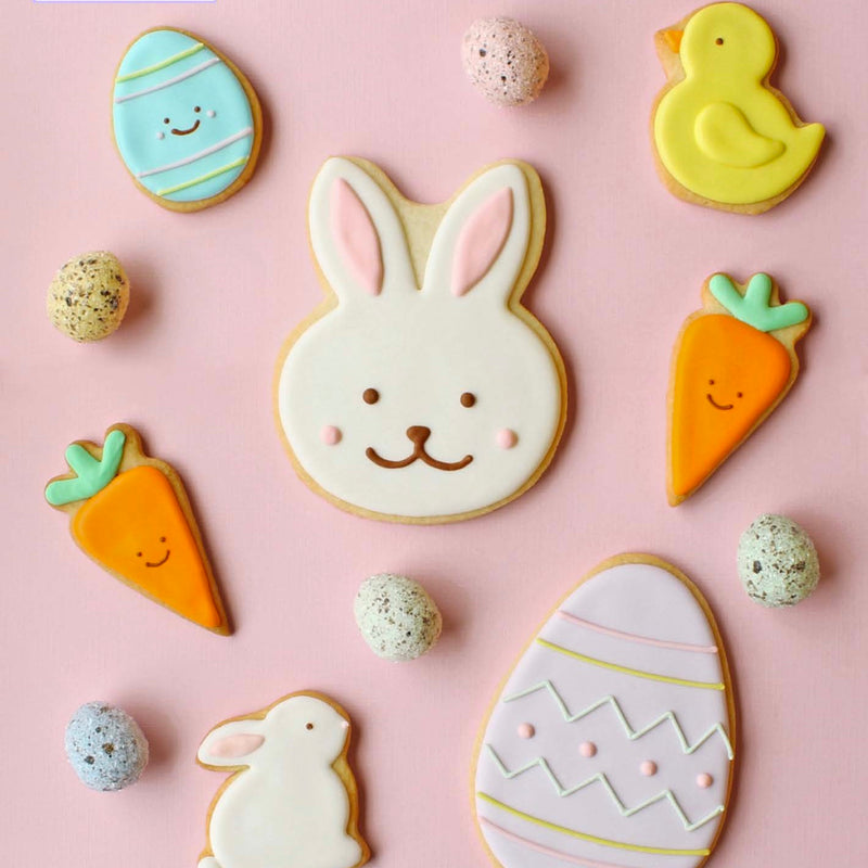 Couple of Squares Bunny and Carrot Easter Sugar Cookie Bag | Le Petite Putti Celebrations