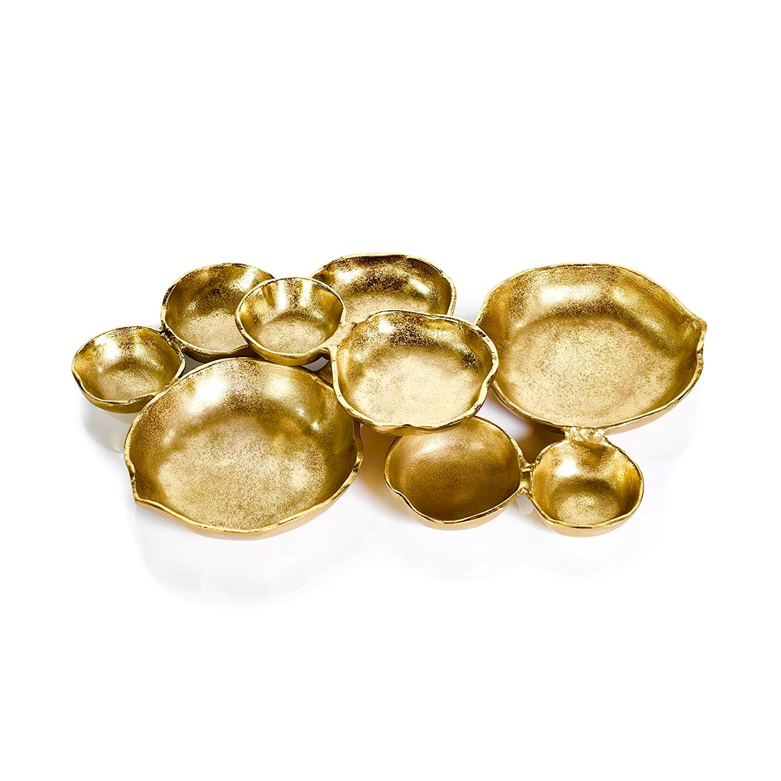 Zodax Cluster of Nine Gold Serving Bowls | Putti Fine Furnishings