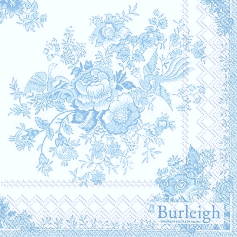 Blue Asiatic Pheasant Paper Lunch Napkin | Putti Party Supplies