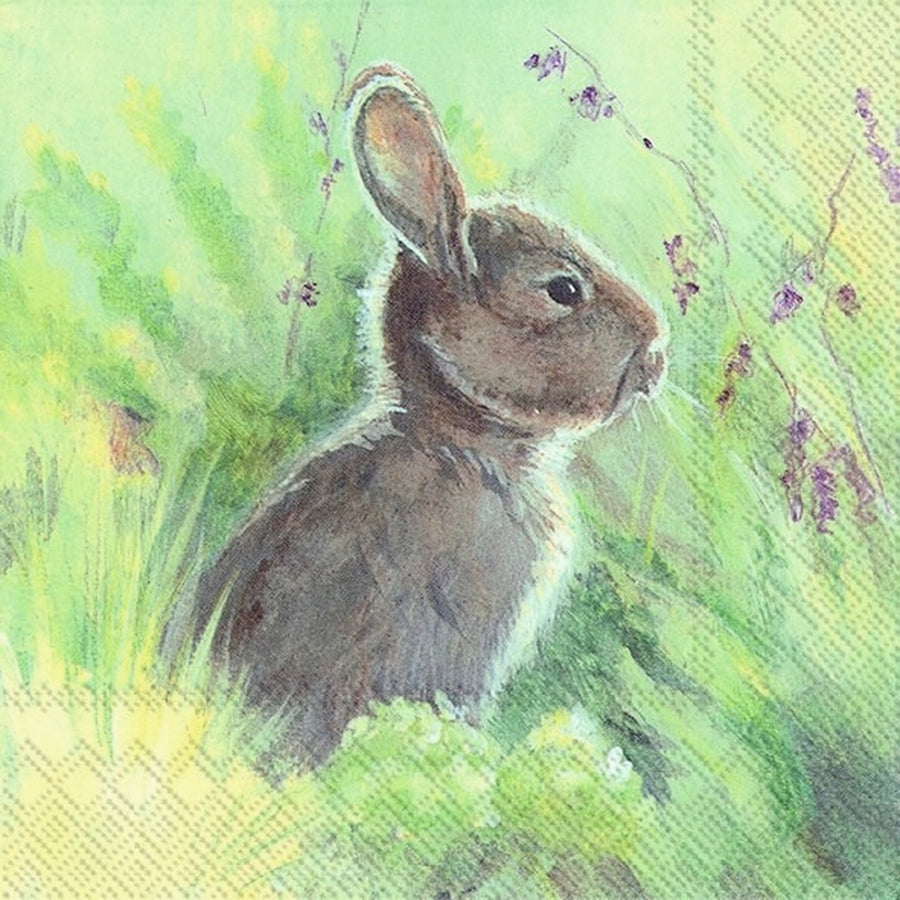 Rabbit in the Meadow Lunch Paper Napkin  | Putti Party Supplies