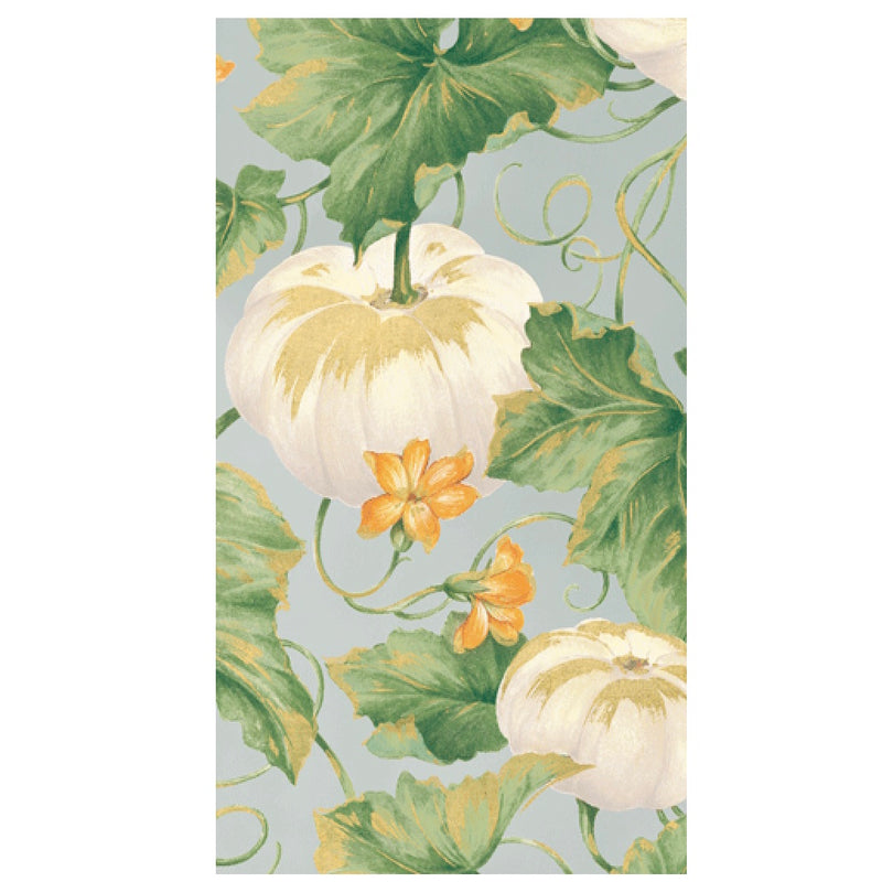 Caspari White Heirloom Pumpkins Paper Napkin - Guest | Putti Celebrations