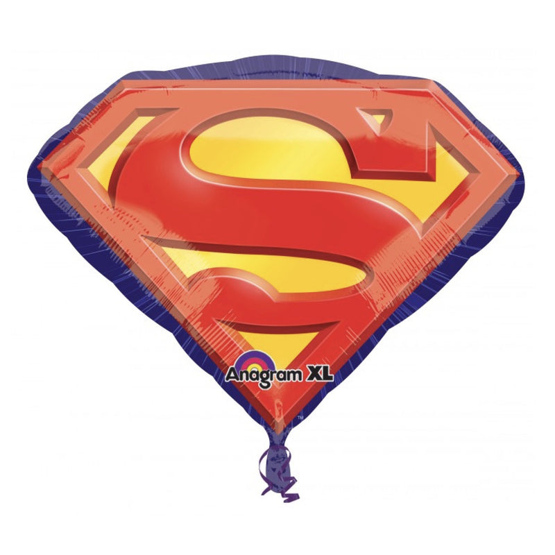 Superman Emblem Mylar Balloon, SE-Surprize Enterprize, Putti Fine Furnishings