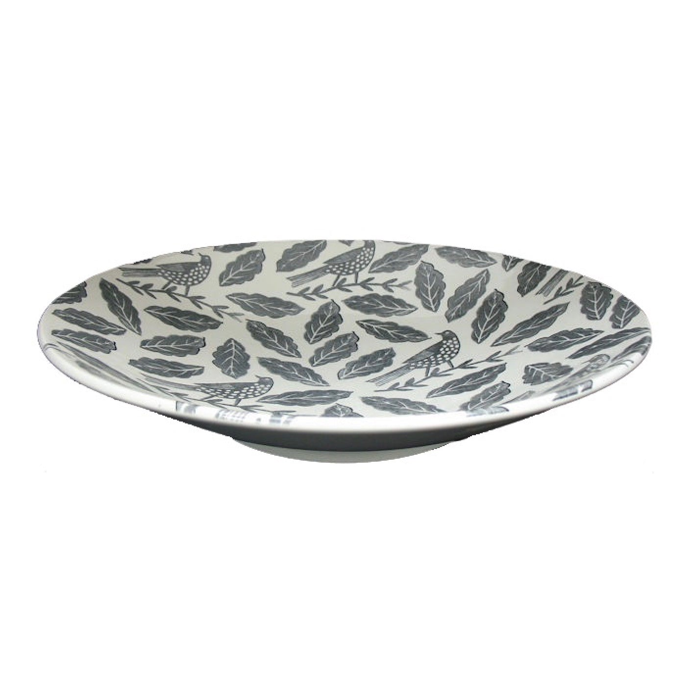 Royal Stafford Grey Songbirds Low Bowl | Putti Fine Furnishings