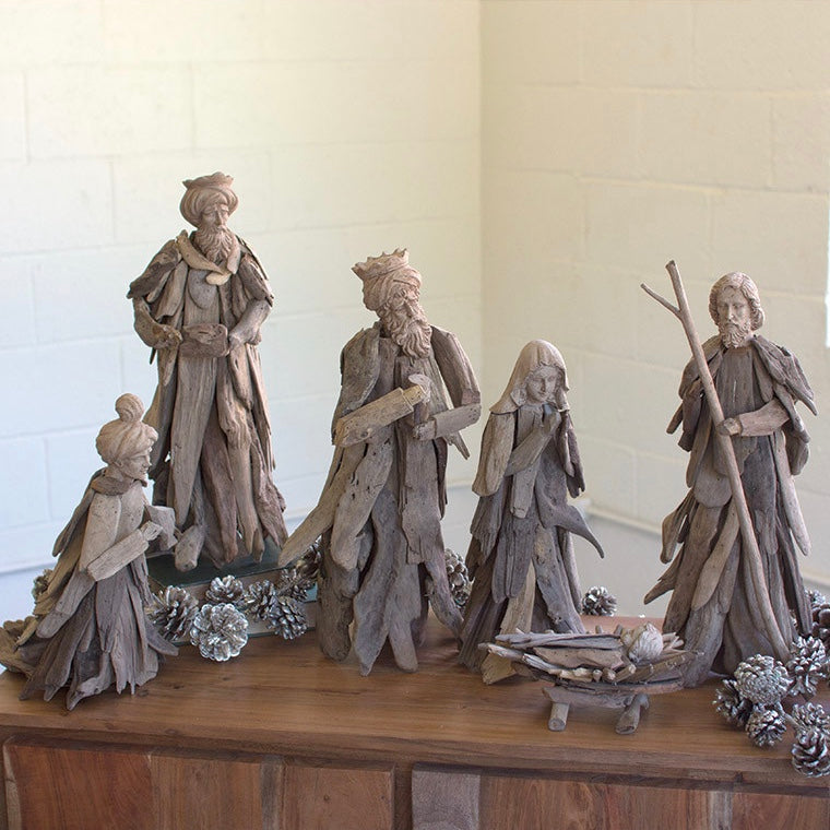 Driftwood Nativity Set