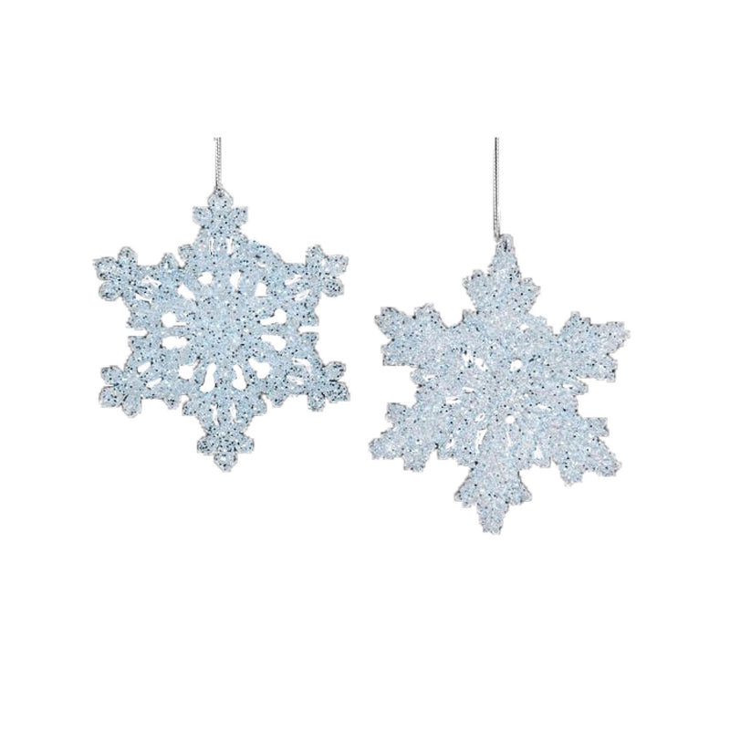 Light Blue Glitter Snowflake Ornament
