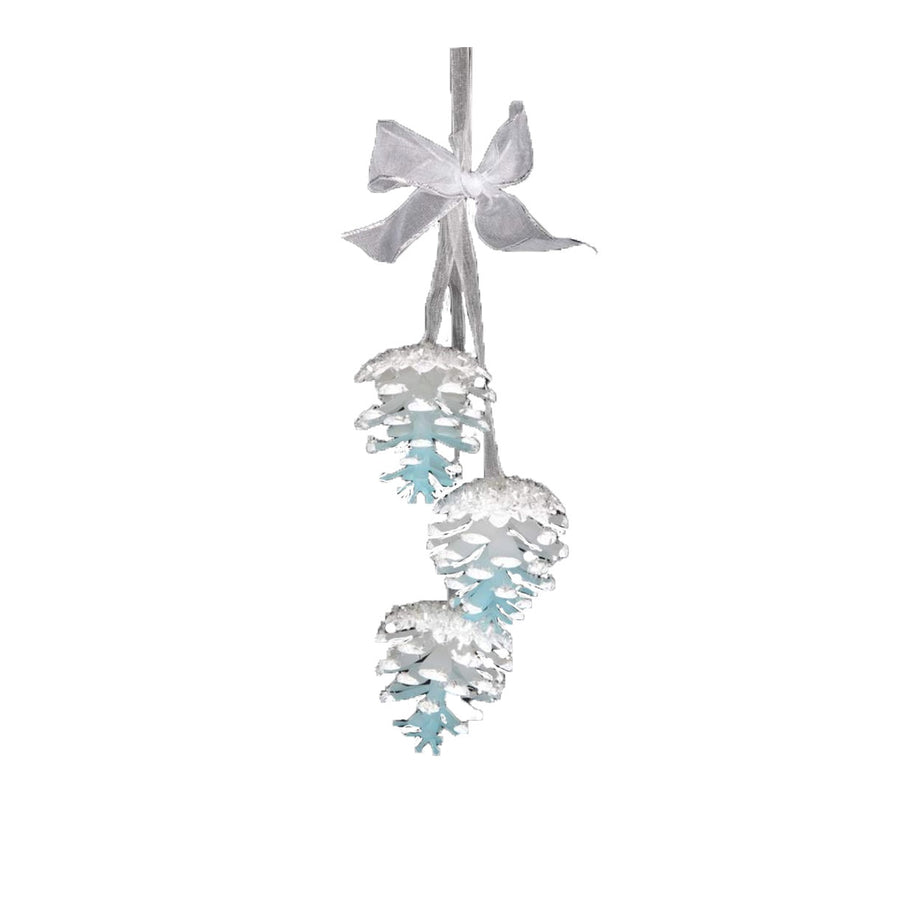 Blue Glass Pine Cone String, CT-Christmas Tradition, Putti Fine Furnishings