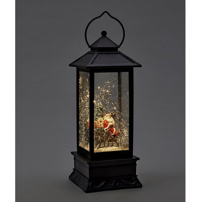 Lantern with Santa on Sleigh and Light | Putti Christmas Celebrations