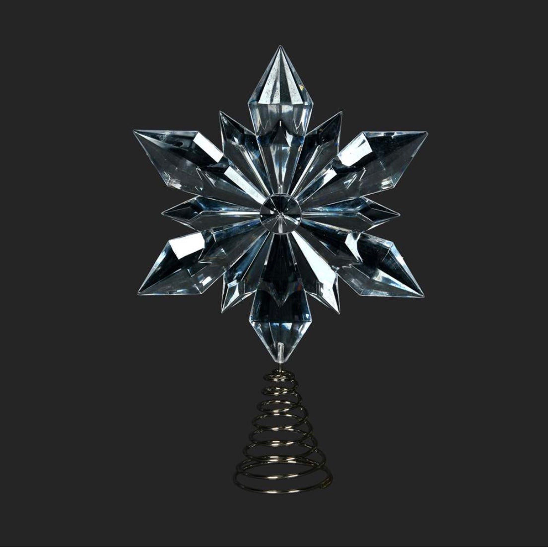 Clear Acrylic Snowflake Tree Topper | Putti Christmas Celebrations