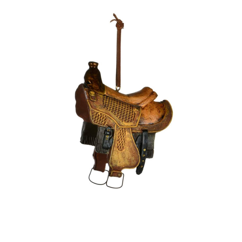 Western Saddle Ornament | Putti Christmas Celebrations Canada