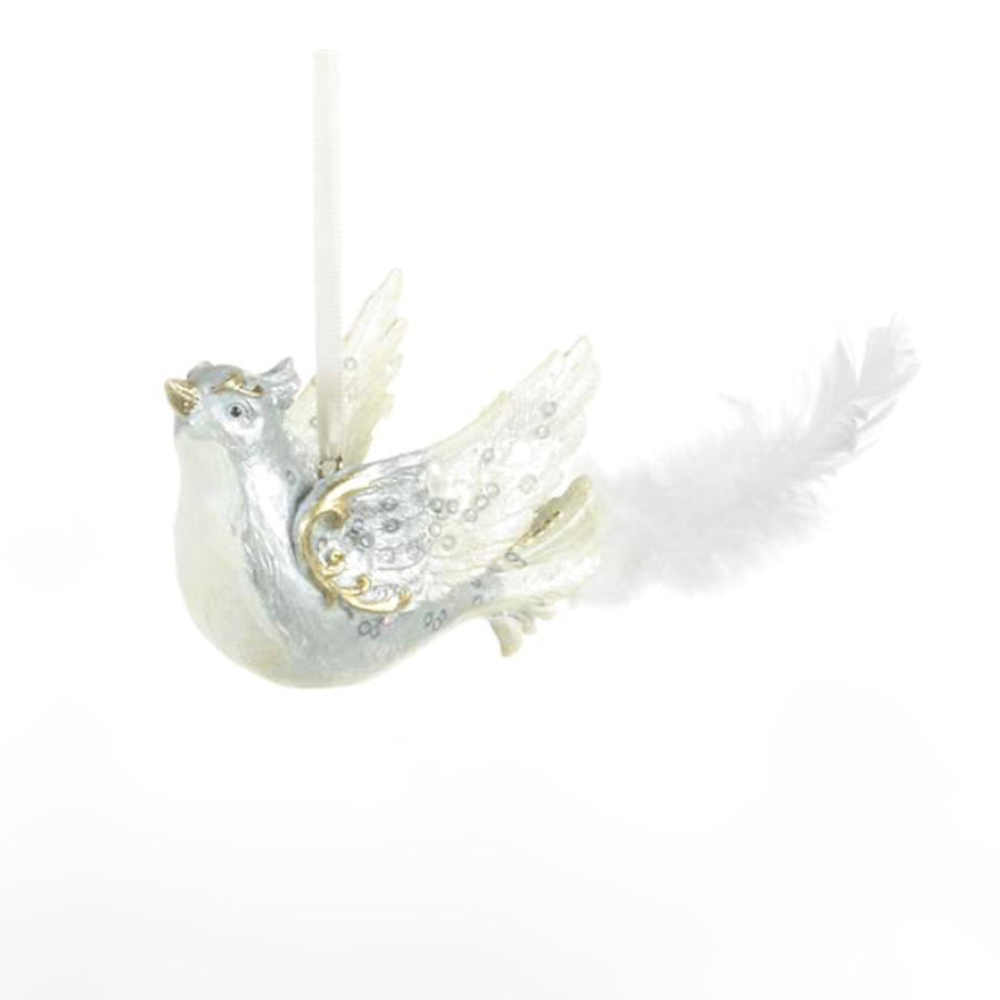 White Swallow Ornament