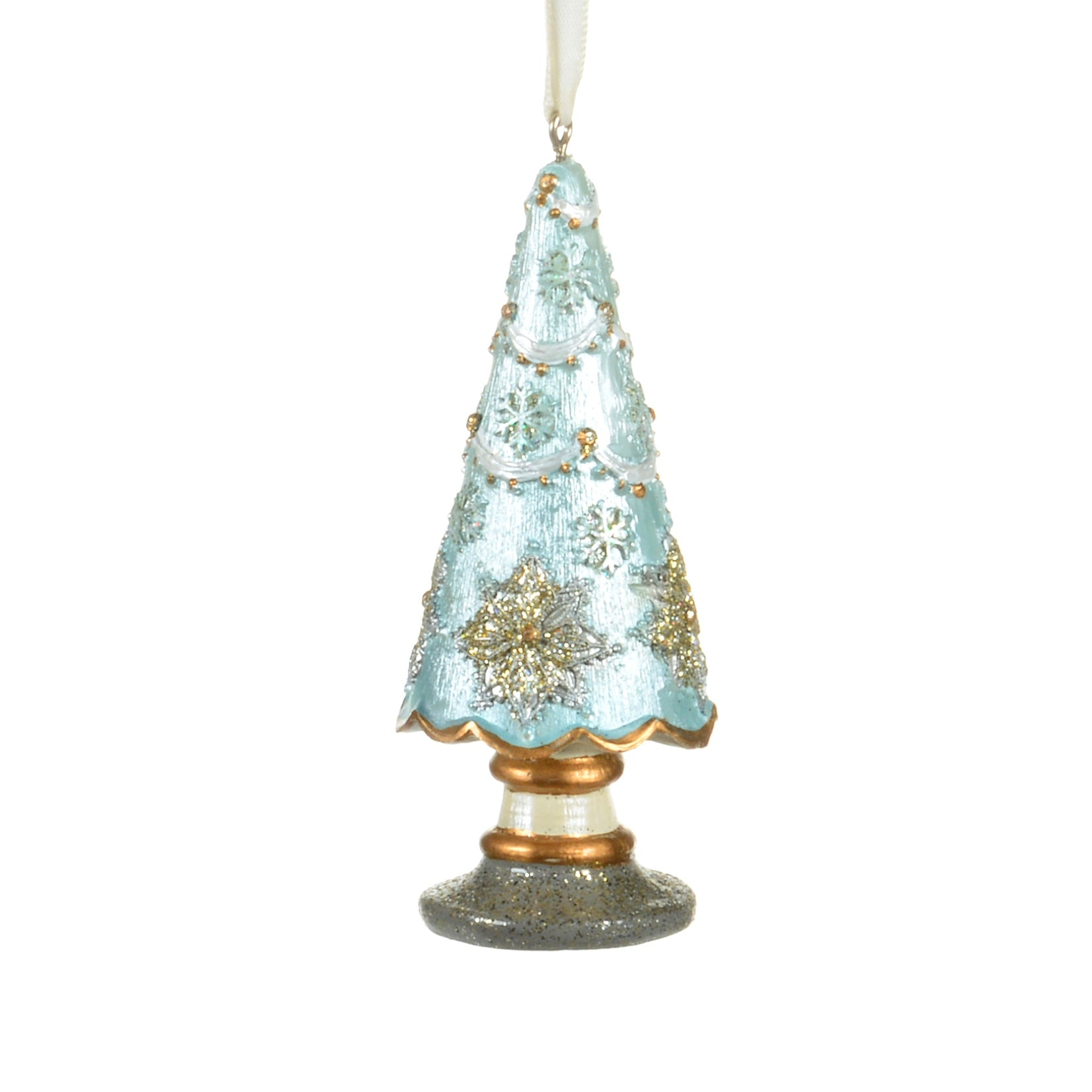 Pastel Blue Nutcracker Tree Ornament | Putti Christmas