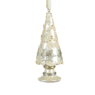 Pastel Ivory Tree Ornament | Putti Christmas