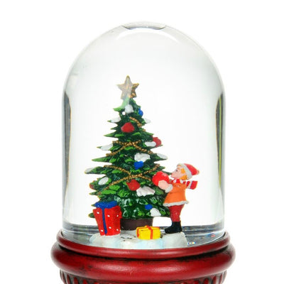 Child with Tree Perpetual Snow Globe on Pedestal | Putti Christmas Canada