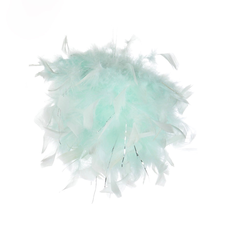 Mint Green Feather Pom Pom | Putti Celebrations