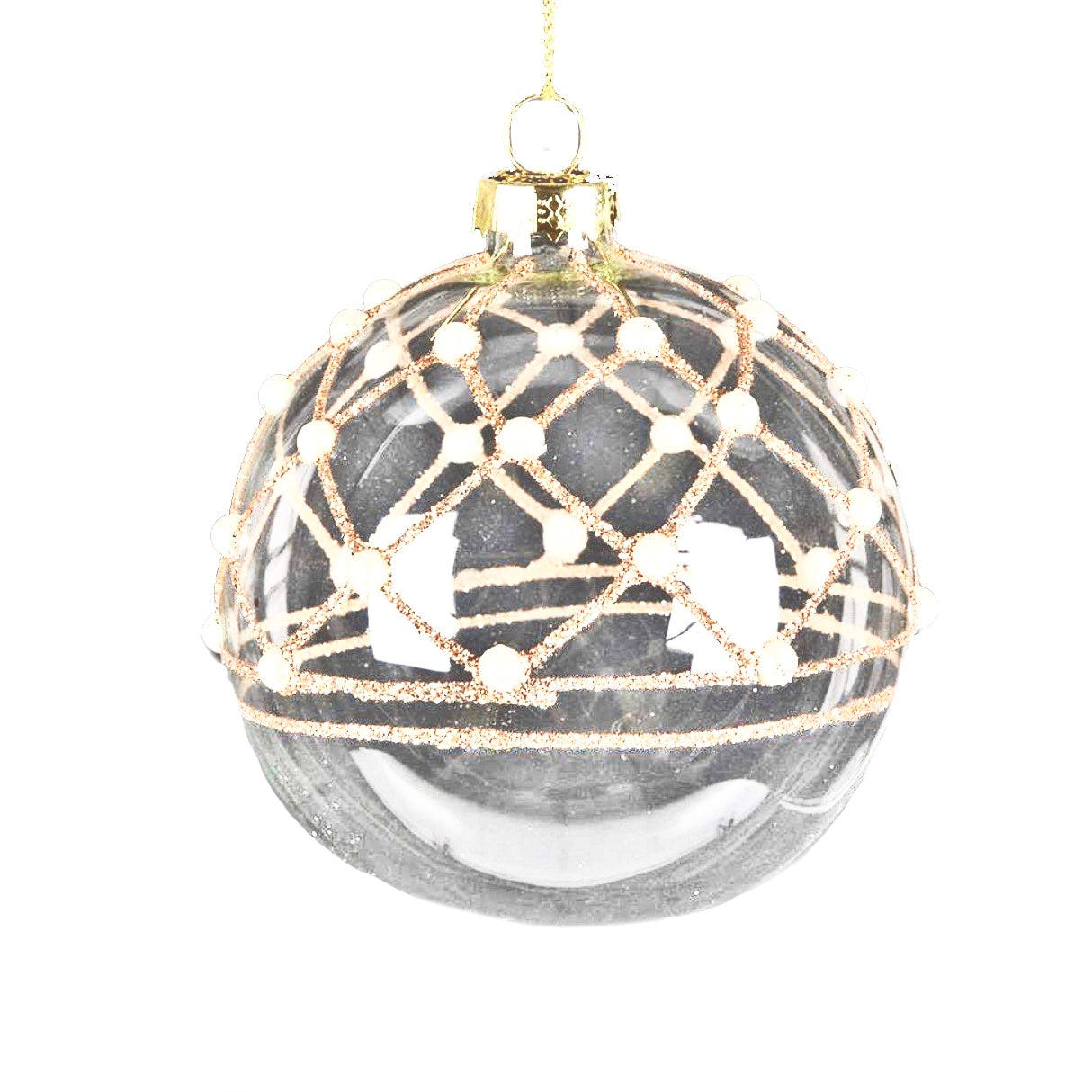 Clear Ball with Pearls Ornament