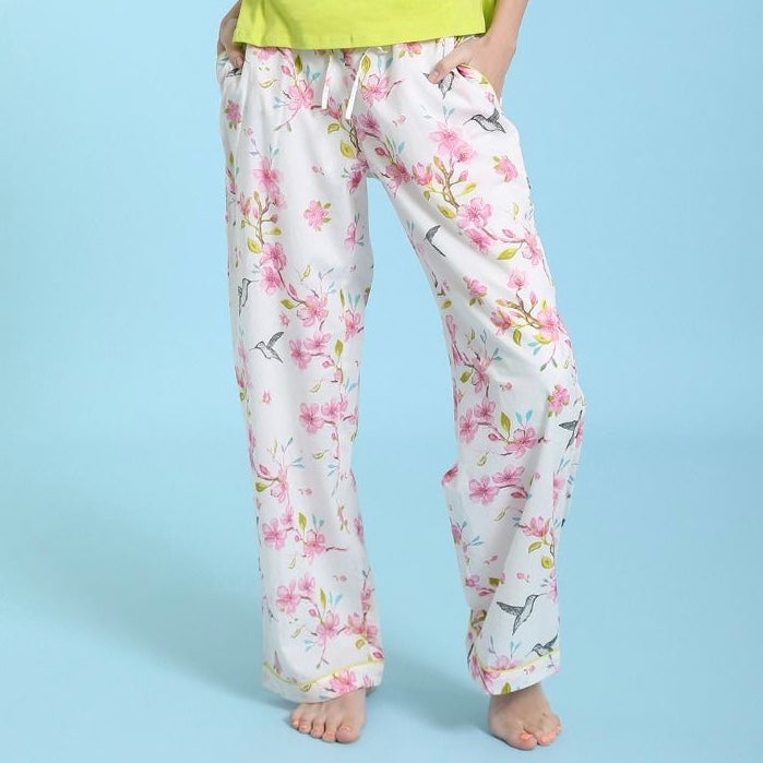 "Mahogany ""Cherry Blossom"" - Pyjama Pant in Bag  - Putti Fine Fashions"