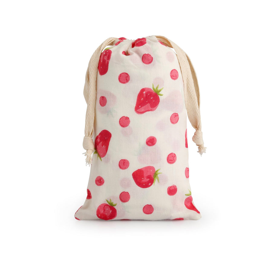"""Strawberry"" White Pyjama Pant in Bag"