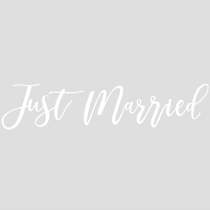 "Ginger Ray White ""Just Married"" Car Sticker 