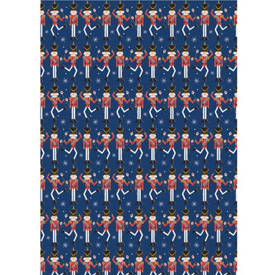 The Art File Dancing Nutcrackers Wrapping Paper - Putti Christmas Celebrations