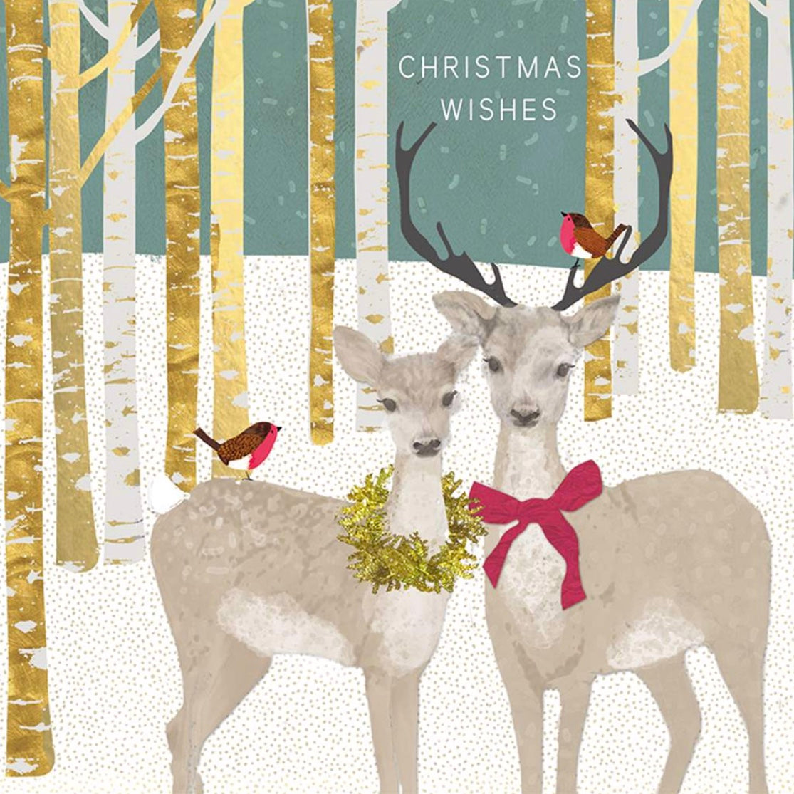 "Deer in Woods ""Christmas Wishes"" Christmas Boxed Cards"