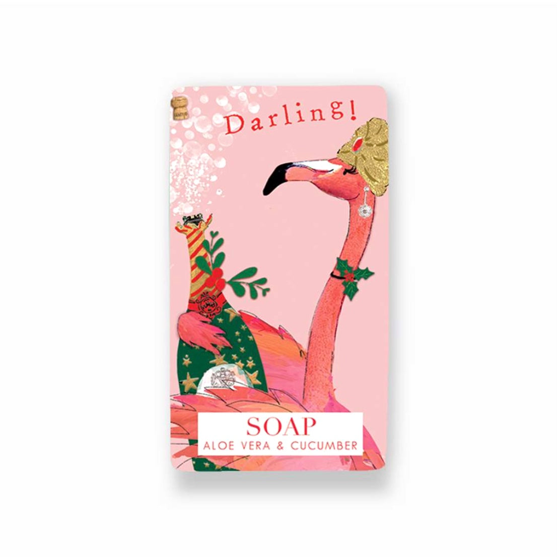 "Flamingo ""Darling"" Christmas Soap"
