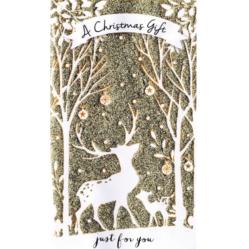 """A Christmas gift just for you"" Money Wallet Greeting Card"