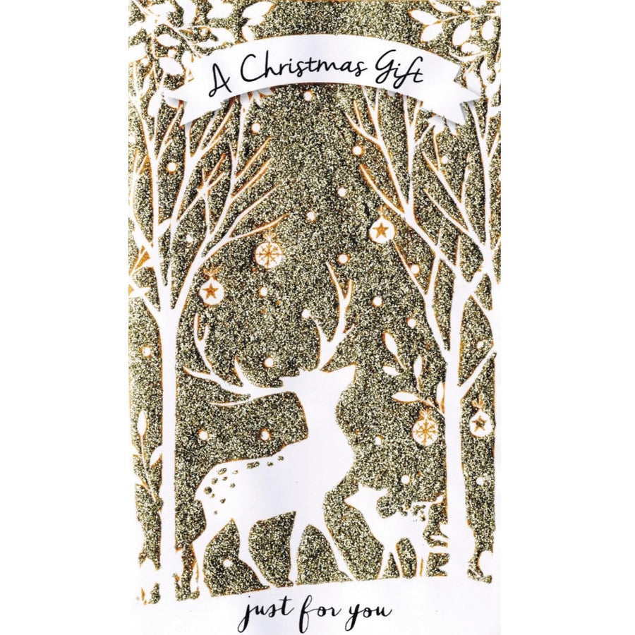 """A Christmas gift just for you"" Money Wallet Greeting Card 