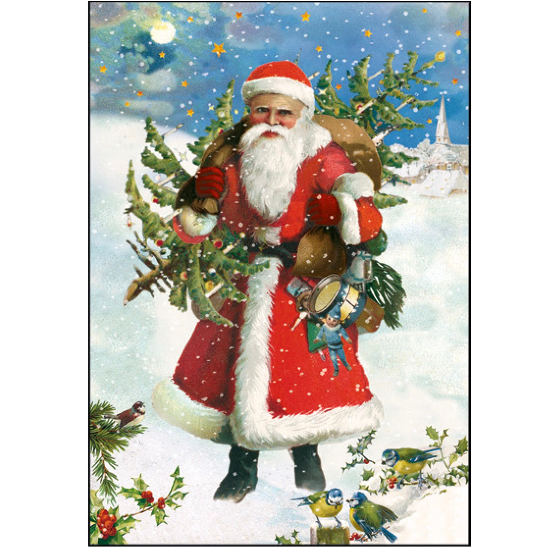 Vintage Santa Christmas Greeting Card