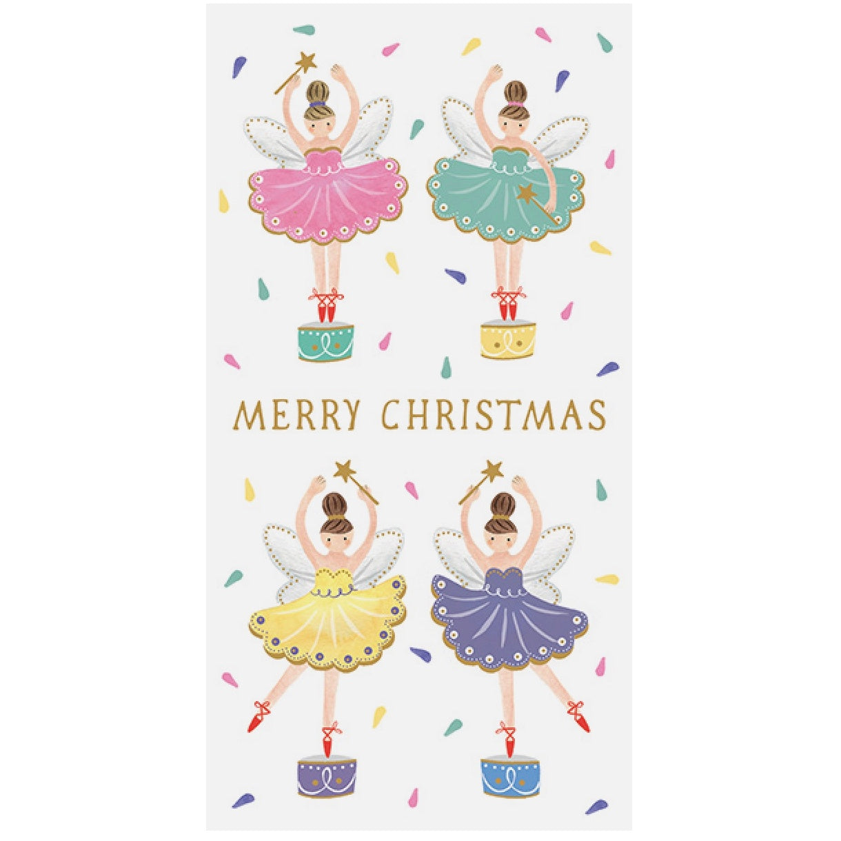 "Ballerina ""Merry Christmas"" Money Wallet Greeting Card"