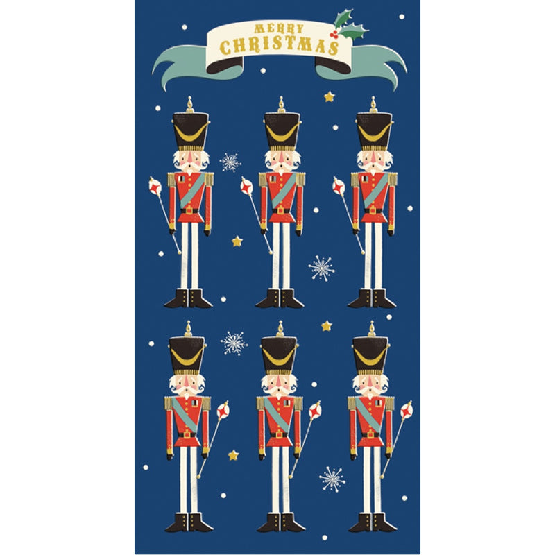 "Nutcrackers ""Merry Christmas"" Money Wallet Greeting Card 