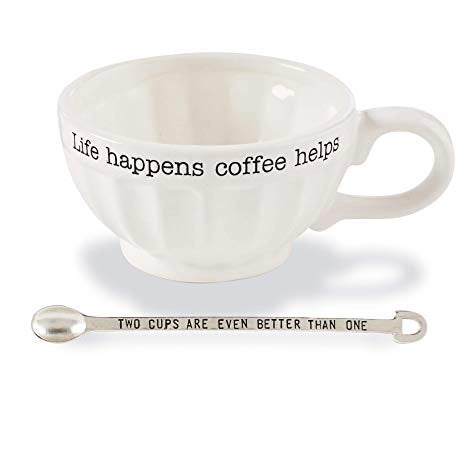 Oversized Coffee Mug and Spoon
