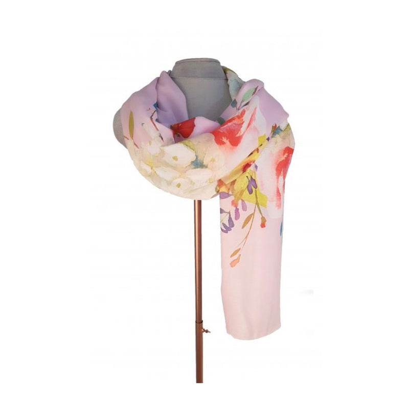 Bouquet Digital Print Scarf - Baby Pink